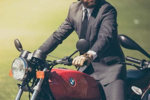 Motociclista su Moto BMW